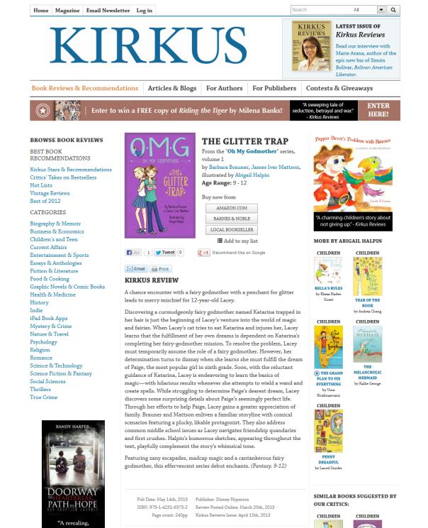 Kirkus screen shot
