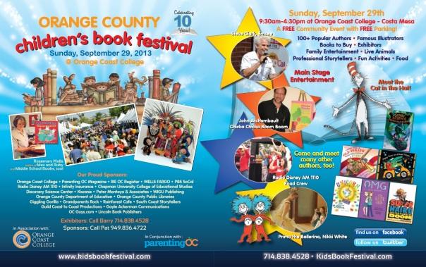 Orange County Children's Book Festival Advertisement.