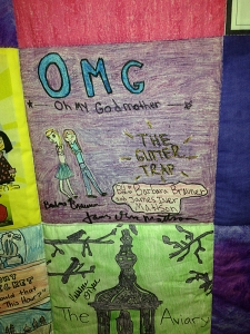 Book cover panel from the middle grade authors quilt.